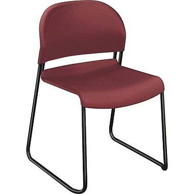 HON® GuestStacker® High-Density Stacking Chair, Mulberry, 4/Carton (HON4031MBT) NEXT2017