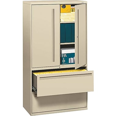 HON Brigade 2 Drawer Lateral File, Putty/Beige,Letter/Legal, 36''W (HON785LSL)
