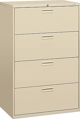 HON Brigade™ 500 Series 4 Drawer Lateral File, Putty/Beige,Letter/Legal, 30''W (HON584LL)