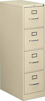 HON 510 Series 4 Drawer Vertical File Cabinet, Letter, Putty, 25