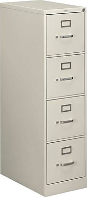 HON 510 Series 4 Drawer Vertical File Cabinet, Letter, Light Gray, 25