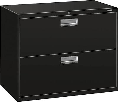 HON Brigade 600 Series Lateral File, 2 Drawers, Aluminum Pull, 36
