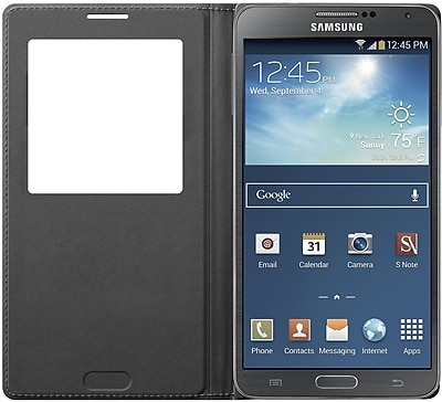 Samsung S-View Flip Cover for Samsung Galaxy Note 3, Black