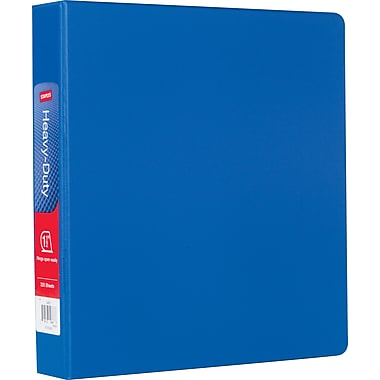 Staples® Heavy-Duty Binder with D-Rings, 1 1/2