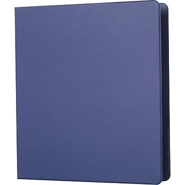 Staples® – Reliure standard avec porte-étiquette et anneaux en D, 1 po, bleu