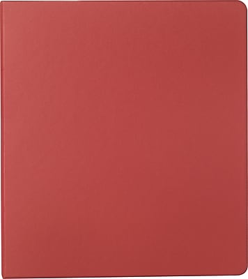 Staples® Standard Binder with Label Holder and D-Rings, Burgundy, 220 Sheet Capacity, 1