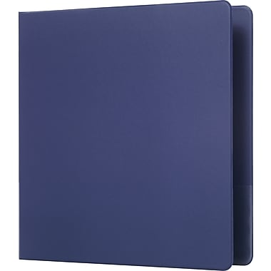 Staples Standard 1.5-Inch D 3-Ring Binder with Label Holder, Blue (26414-CC)