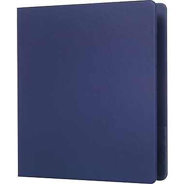 Staples Standard 1-Inch D 3-Ring Non-View Binder, Blue (26408-CC)