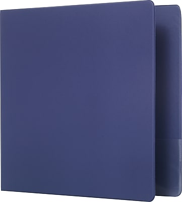 Staples Standard 2-Inch D 3-Ring Non-View Binder, Blue (26419-CC)
