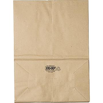 Kraft Brown Paper Grocery Bags, 1/6 57#, 500/BD