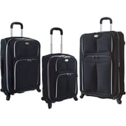 Travelers Club 3 Piece Expandable Luggage Set, Black