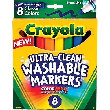 crayola washable markers broad line 8box