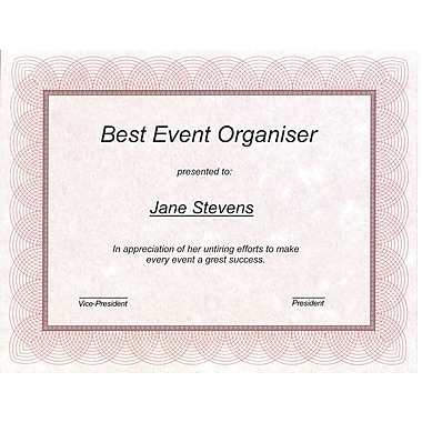 Award certificate paper staples first base st james regent style certificate redsilver 100 yelopaper Choice Image