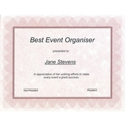 First Base St. James™ Regent Style Certificate, Red/Silver, 100/Pack