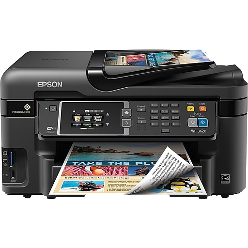 Epson WorkForce WF-3620 Color Inkjet All-in-One Printer (C11CD19201)