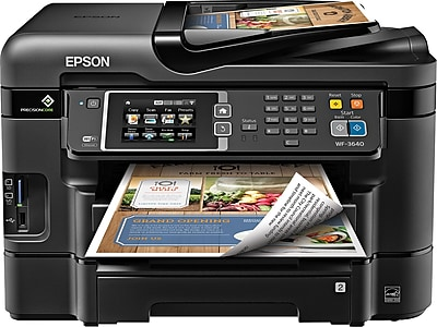 Epson® WorkForce® WF-3640 Wireless Multifunction Color Inkjet Printer (C11CD16201)