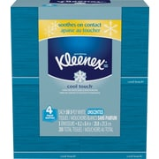 Kleenex Cool Touch Facial Tissues, 3-Ply, White, 30 Sheets/Box, 4/Pack (30960)