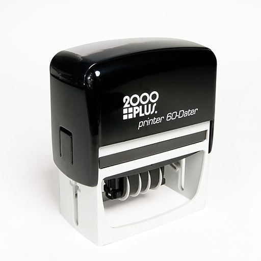 Cosco Custom Self Inking Light Duty Date Stamp 3 Lines Above The Below 1 8 X 2 15 16