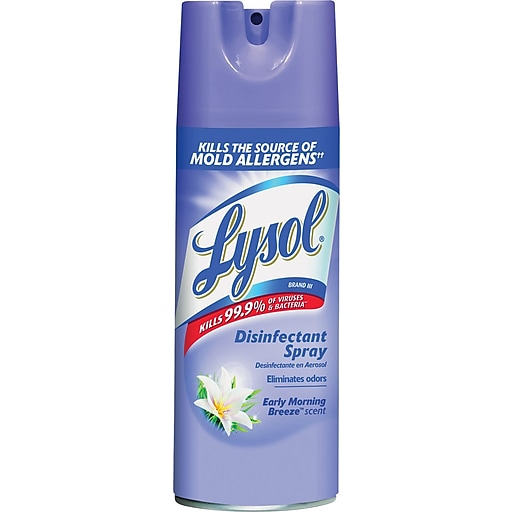 Lysol® Disinfectant Spray, Early Morning Breeze, 12 Oz , Aerosol Can  (RAC80833EA)