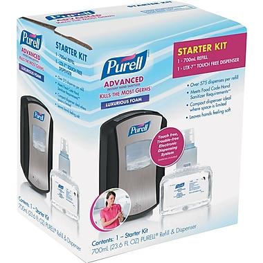 PURELL® LTX-7 Advanced Instant Hand Sanitizer Kit, 700mL, Touch Free, Chrome/Black