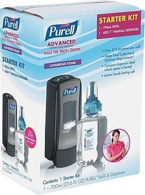 ADX-7 Advanced Instant Hand Sanitizer Kit, 700mL, Manual, Chrome/Black (8705-D4)