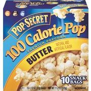 Pop Secret Microwave Popcorn , Butter , 1.12 oz. Bags , 10/BX