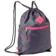 "Eastsport 615750W0GPH Gray Polyester Drawstring Sackpack for 17.5"" Notebook"