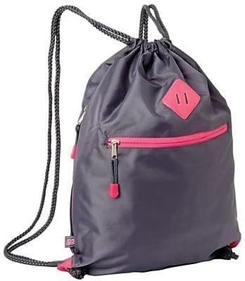 Eastsport 615750W0GPH Gray Polyester Drawstring Sackpack for 17.5