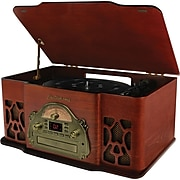Electrohome Wellington 4-In-1 Nostalgia Turntable Stereo System with Record Player, USB, MP3, CD & AM/FM Radio