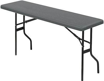 IndestrucTable TOO Folding Table, 1200 Series - Charcoal - 18