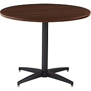 """Iceberg OfficeWorks™ Round Conference Tabletop with Square Edge, Espresso, 48""""Diameter"""