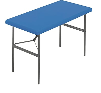 IndestrucTable TOO Folding Table,1200 Series - Blue - 24 x 48