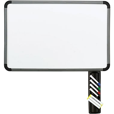 Iceberg Styrene Surface Dry Erase Board, Charcoal Gray Frame, 48