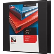 Staples Heavy-Duty 3-Inch Slant-D 3-Ring View Binder, Black (24690-US)