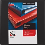 Staples Heavy-Duty 1.5-Inch Slant D 3-Ring View Binder, Black (24674-US)