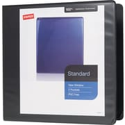 "3"" Staples® Standard View Binder with D-Rings, Black"