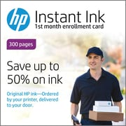 HP Instant Ink 300 Page Plan 1st Month Enrollment Card