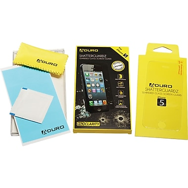 Aduro ShatterGuardz Tempered Glass Screen Protectors for iPhone 5/5S/5C