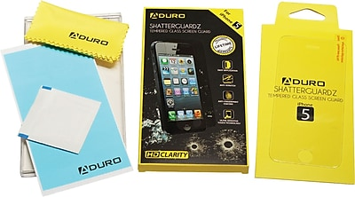 Aduro ShatterGuardz Tempered Glass Screen Protectors for iPhone 4/4S