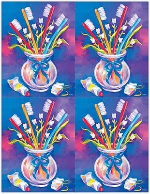 MAP Brand Dental Laser Postcards Toothbrushes in a Cup 744671