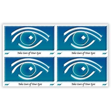 MAP Brand Eye Care Laser Postcards Blue Graphic Eye