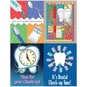 MAP Brand Dental Assorted Laser Postcards Check-Up Time