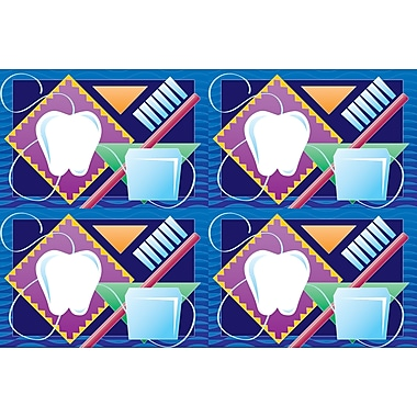 MAP Brand Dental Laser Postcards Tooth, Brush and Floss