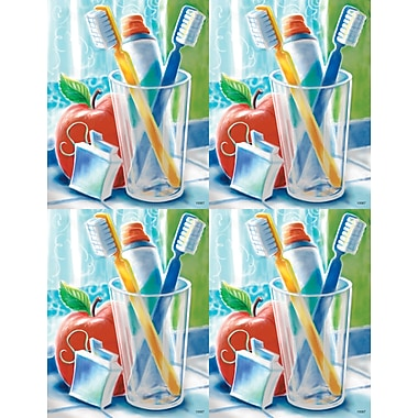 MAP Brand Dental Laser Postcards Toothbrush Scene