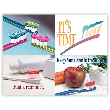 MAP Brand Graphic Image Assorted Laser Postcards Toothbrushes