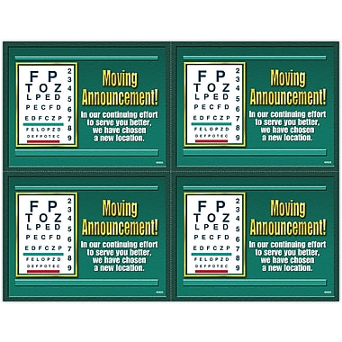 MAP Brand Graphic Image Laser Postcards Moving Announcement