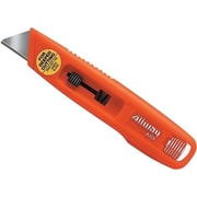 Utility Safety Knife Spring Loaded with 6 Round Point Blades Orange 12/Box