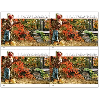 MAP Brand Scenic Laser Postcards Fall, Scarecrow