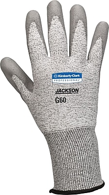 Jackson Safety® G60 Level 3 Cut Resistant Gloves with Dyneema® Fiber, Grey, Extra-Large, 12/Pair