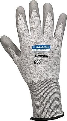 Jackson Safety® G60 Level 3 Cut Resistant Gloves with Dyneema® Fiber, Grey, Medium, 12/Pair
